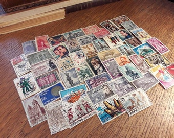 50 Postage Stamps from Spain. Viva España