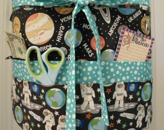 Teacher Aprons-Crafter Vendor Utility Apron-A Walk in Space