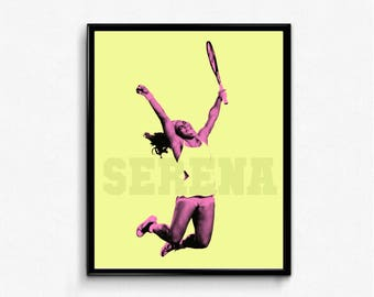 Serena Williams Sports Poster - Grand Slam, Tennis Poster, Wall Art Decor