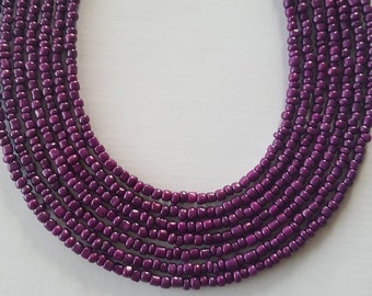 Purple seed bead necklace - seed bead necklace - purple - purple necklace - necklace - bead necklace