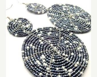 ON SALE Beaded Earrings, Seed Bead Earrings, Beaded Tassel Earrings, Tassel Earrings, Bead Earrings, Beaded Dangle Earrings, Boho Earrings,