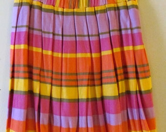 Bright Striped Skirt S M 28 Waist