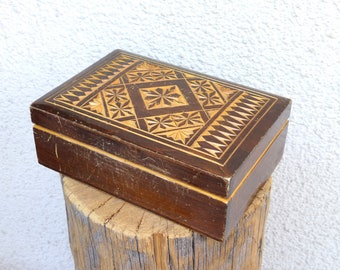 Vintage Wooden Box / Rustic Wooden Box / Distressed Wood Box / Vintage Toolbox Storage Box / wood tool Box Industrial Box
