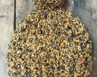 Honey Crochet Beanie