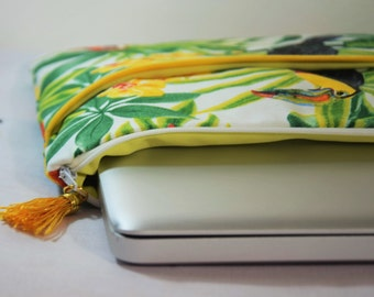 """MacBook case - Pouch 9 """"10"""" 11 """"or 12"""" 13 """"14"""" or 15 """"inch patterned computer tropical gift personalized gift Christmas"""