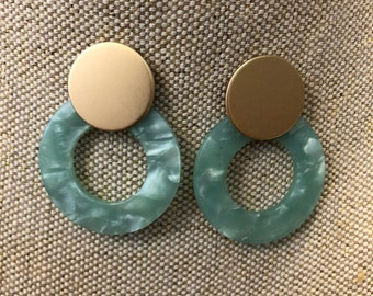 Green earrings, mint green statement earrings, green earrings, mint hoop earrings, earrings, dangle earrings, jcrew, jcrew earrings