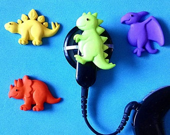 Hearing Aid Tube Trinkets or Cochlear Cuties:  Dinosaurs!  Please select quantity 2 for a pair!  Great for boys or girls!