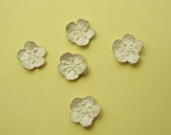 forget me not silver cast flowers silversmithing component UF002-5