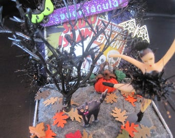 Miniature Halloween Diorama Tin