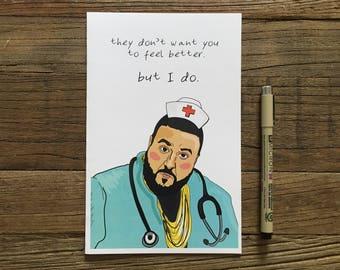 DJ Khaled Greeting Card