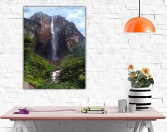 Modern paintings Angel Falls Venezuela Canvas Print