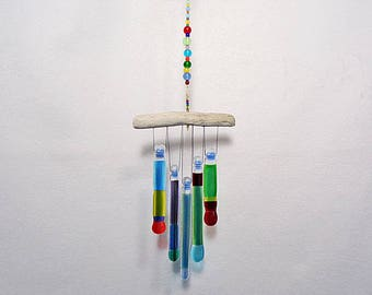 Random Multicolor Wind Chime, Glass Windchime, Glass Chimes, Colorful Glass Chimes, Festive