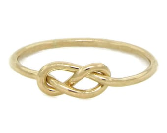 Simple Engagement Ring • 14k Gold Infinity Knot Ring • Simple Gold Rings • Wedding Ring • Promise Ring • Friendship Ring