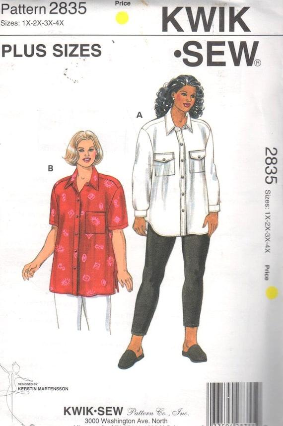 SALE Kwik Sew 2835 Sz 1X-4X Bust 45-57/Hips