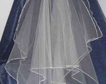 Handkerchief Waist Length Bridal Veil, available in white or ivory