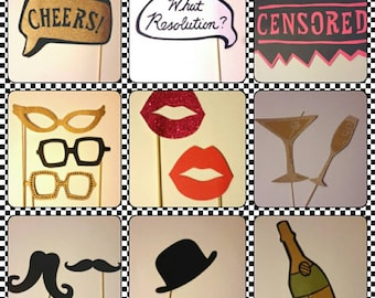 New  years eve Photo booth prop, NYE photo prop, funny photo prop, holiday photo booth, wedding photo booth props, photo booth props wedd