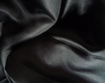 Satin lining fabric black 40 * 60 cm - 2 pieces