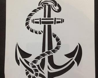 painting stencil nautical marine Anchor