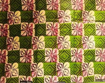 Ankara fabric, Batik, African Wax Print, Green and Black Batik, African Ankara, African Material, sold by the yard