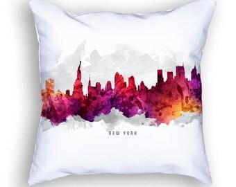 New York Pillow, 18x18, New York Skyline, New York Cityscape, New York Decor,  Cushion Home Decor, Gift Idea, Pillow Case 14