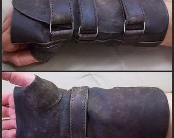 postapocalyptic real leather glove
