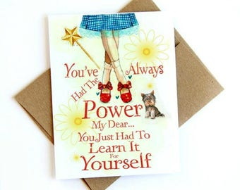 Dorothy from Wizard of Oz card quote