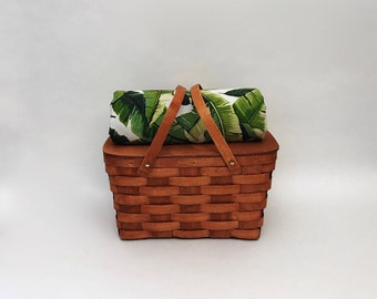 Picnic Basket Set - for 2,4 or 6 people - Picnic Basket - Handmade
