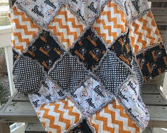 Pittsburgh Steelers Baby Blanket, Quilt, Throw, 35 x 35, Ready to Ship!