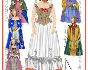 Printable Paper Doll – Elizabeth Layton Frontier Ancestor
