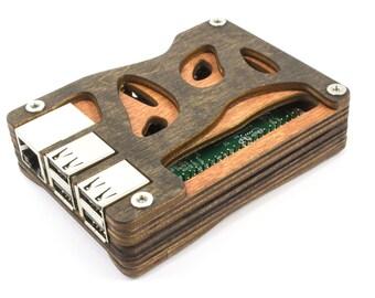 Zebra Bio all Wood Case for the Raspberry Pi 3B+, 3, Pi 2, and Pi B+ ~ by C4Labs
