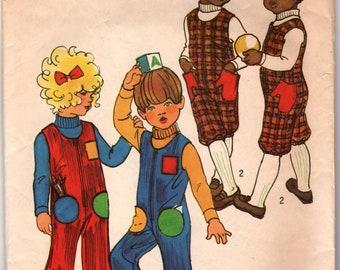 Simplicity 9584 Child's Jumpsuit Size 5 Vintage Retro 1970's