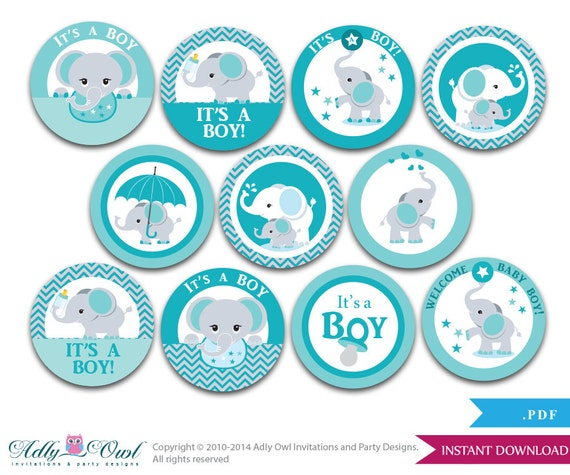 Printable Baby Shower Cake Toppers