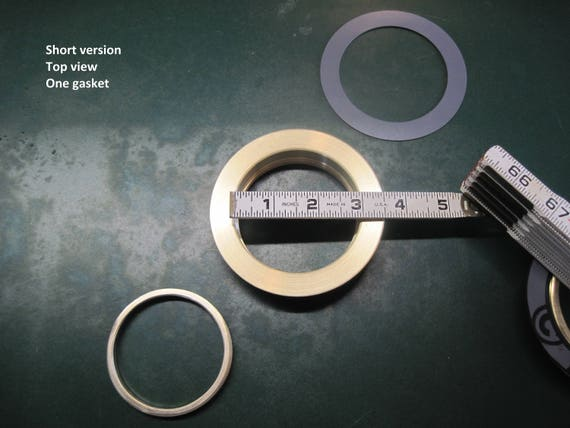 "3"" Opening, Short Lid Plug, Solid Brass Threaded Ring Inserts"