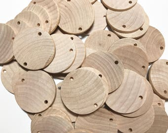Wooden discs for Family Birthdays Board - Family Birthday Board Tags - Family Celebrations Board Tags - Wooden Discs - S Hook