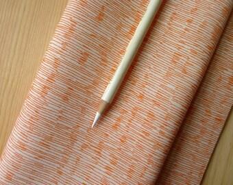 Botanics Line Scratch Tangerine Orange AFR-14259-147 - Carolyn Friedlander for Robert Kaufman - Half Yard - Modern Quilting Cotton Fabric