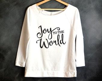 Joy to the World Shirt, Christmas shirt, Christmas gift, Joy Shirt, Holiday Top, Ugly Sweater, Christmas Shirts for Women, Christmas Sweater