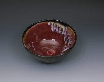 Red and Black Hand Thrown Bowl