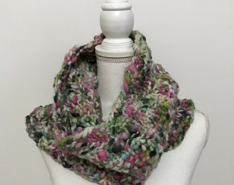 The Corkscrew Cowl in Hand Spun Wool