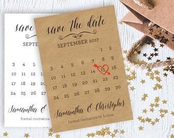 Save The Date Calendar / Digital File