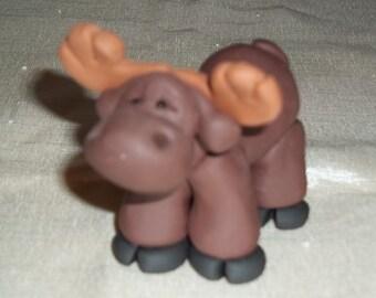 FIMO Moose Figurine