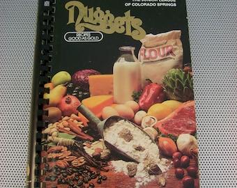 """Vintage 1983 """"Nuggets"""" Cookbook, Junior League of Colorado Springs, Colorado"""