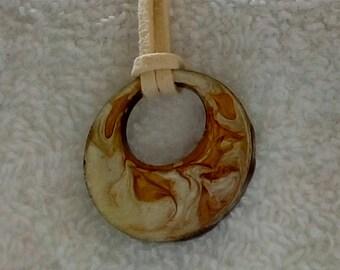 Wearable Art Rustic Abstractt Pendant
