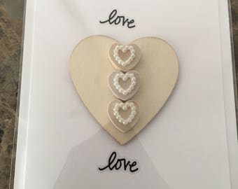 Hand Made Card Perfect for a wedding