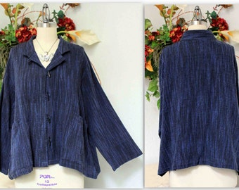 Lagenlook Hand spun Cotton Flax Plus size Blouse up to 4XL. Matching Pants available.