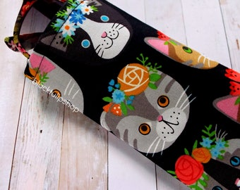 Flower Crown Kitty Cat Soft Eyeglass Case Sunglass Holder Cat Flower Crowns Cute Holder for Glasses