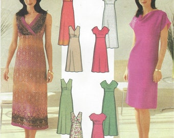 Womens Design Your Own Dress with Bodice and Length Variations Simplicity Sewing Pattern 7156 Size 14 16 18 20 Bust 36 38 40 42 FF