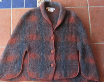 vintage carson pirie scott & co. cape tissu des pyrenees gorgeous wool cape one sz france