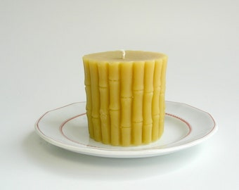 Beeswax Bamboo Pillar Candle