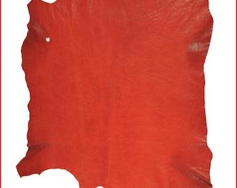 A010-P-skin leather VINTAGE antique red Orange.