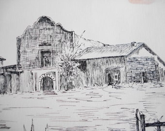 1st California Mission San Diego de Alcalá ..... 11 of 100 Drawings Lot of History Lot of Story